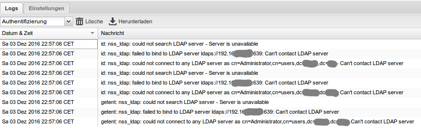 LDAP Connection Issue - UCS - Univention Corporate Server