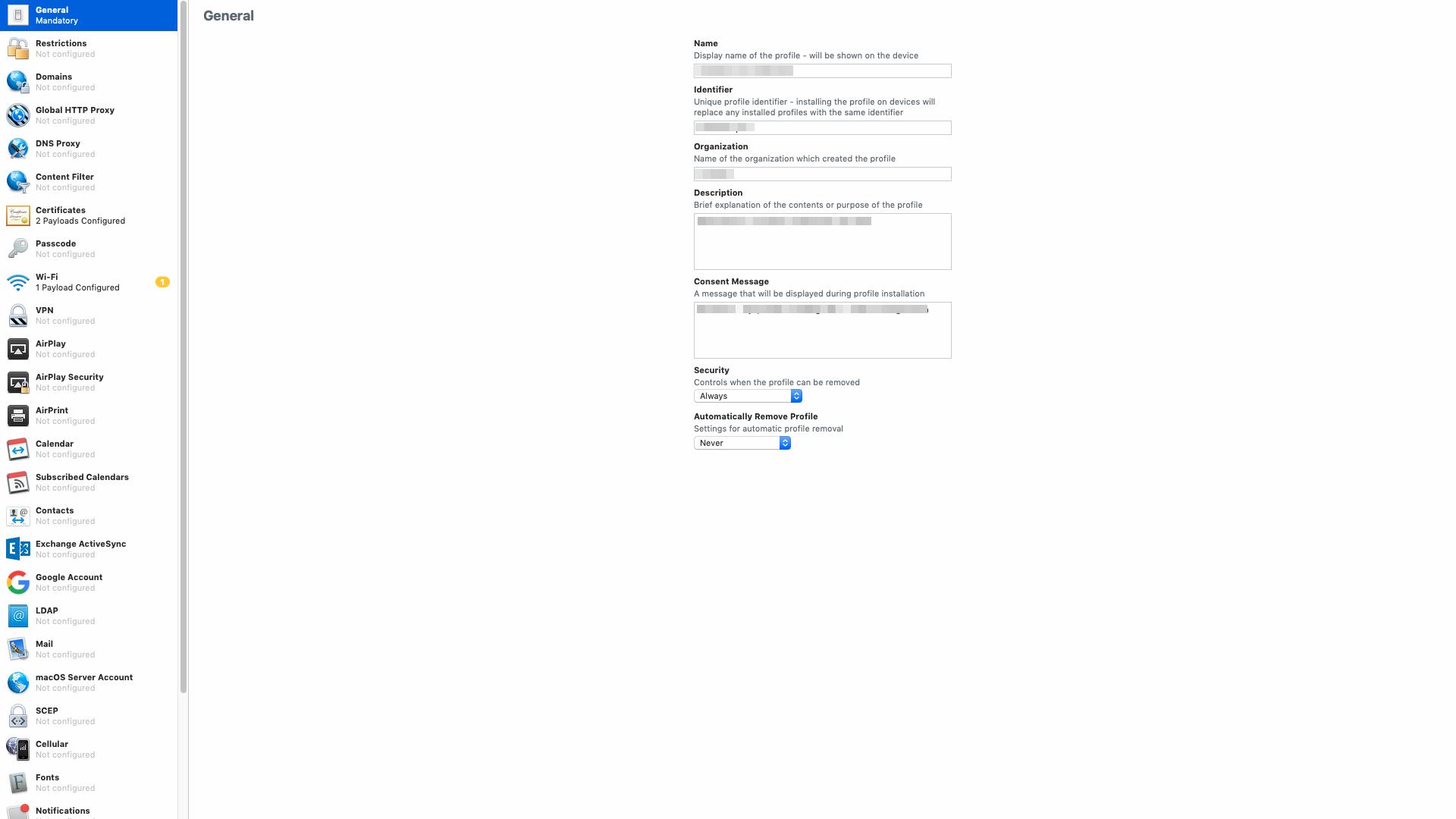 Mobileconfig profiles for macos windows 10