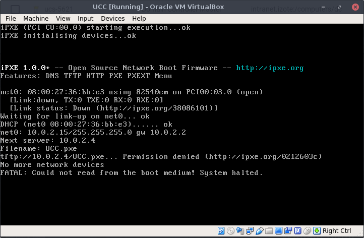 UCC [Running] - Oracle VM VirtualBox_001