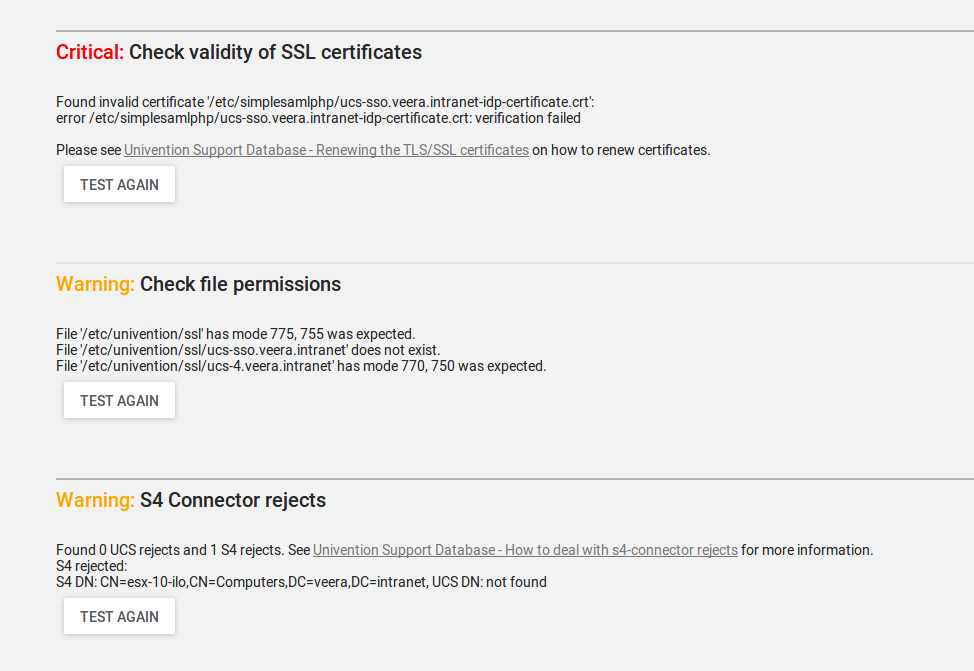 SAML certificate verification failed - UCS - Univention