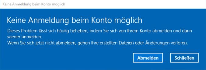 Windows-Logonfehler