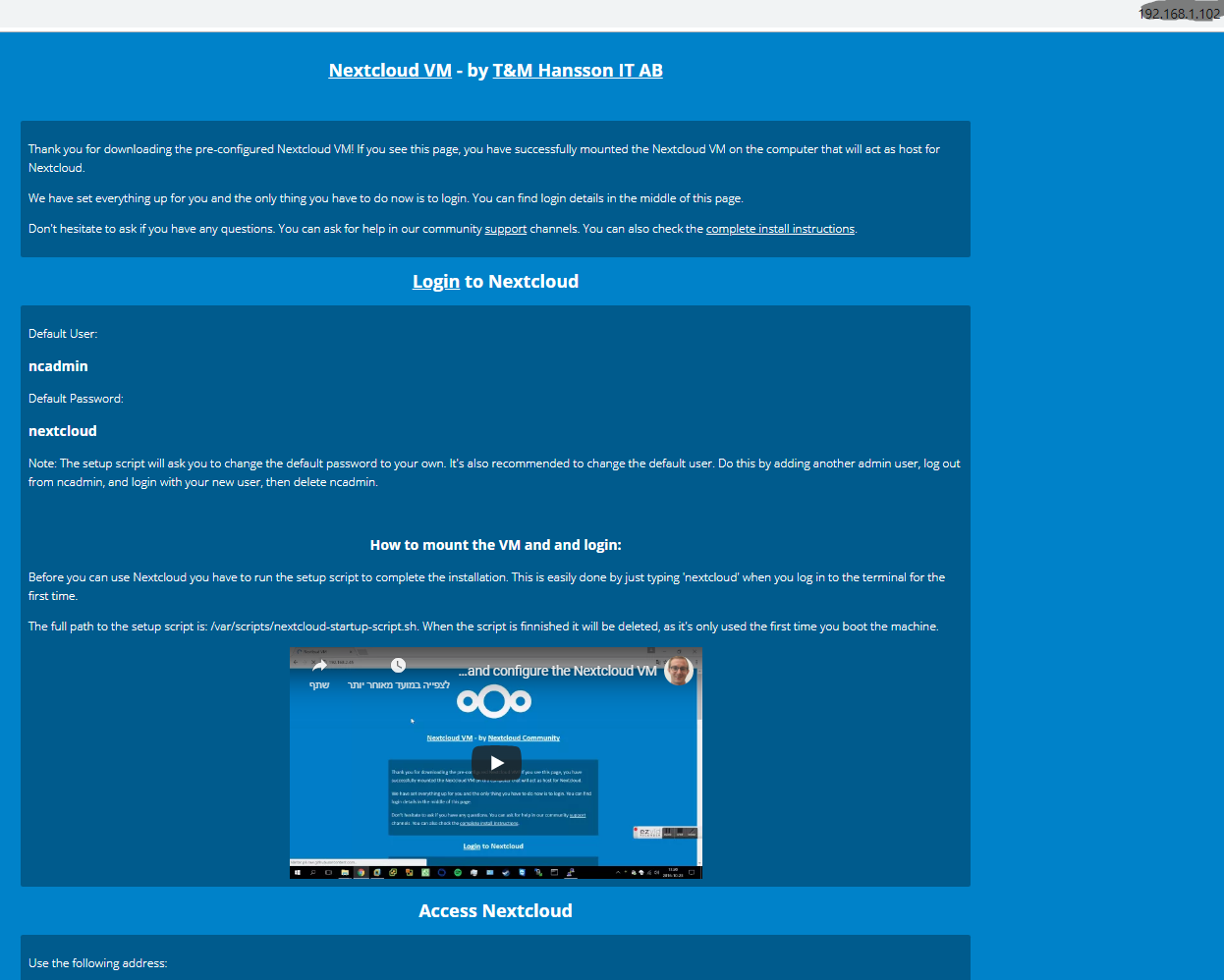 Edit index php page of the vm community - Apps & App Center